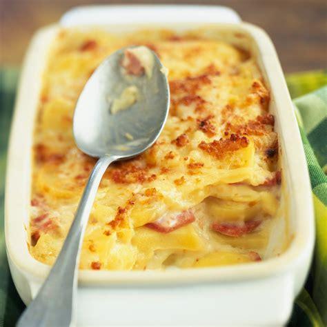 recettes de cuisine gratin dauphinois aux lardons facile et pas cher