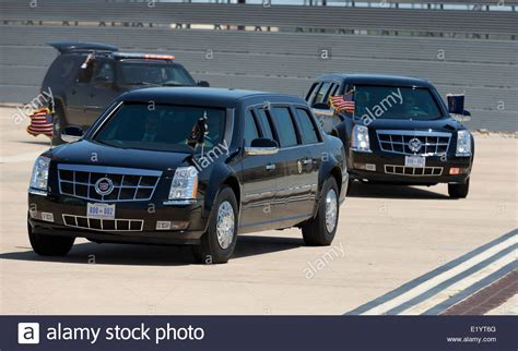 The Presidential Motorcade With President Barack Obama And