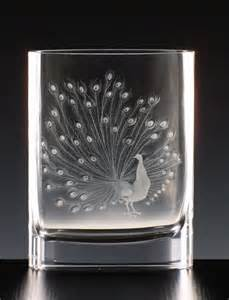 Etched Moser Glass Vase