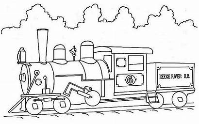 Train Coloring Steam Pages Printable Colouring Trains