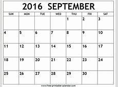 September 2016 Calendar #WordCalendar #CalendarTemplates