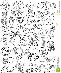Vegetable Clipart Black And White Vegetables And Fruits ...