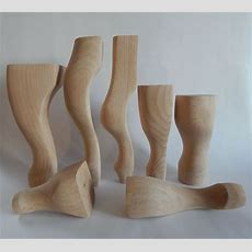 4x Wooden Furniture Legsfeet, Queen Anne Style, Beech