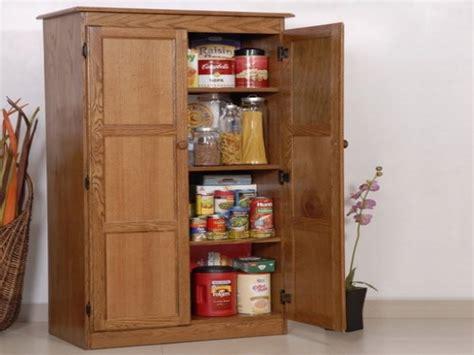Tall Cabinet Doors Shelves Oak Kitchen Pantry Storage