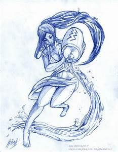The Art Of Nikolas A. Draper-Ivey: Aquarius Sketch