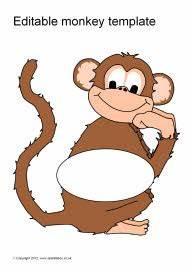 Editable monkey templates (SB8356) - SparkleBox
