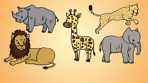 draw    draw african animals youtube