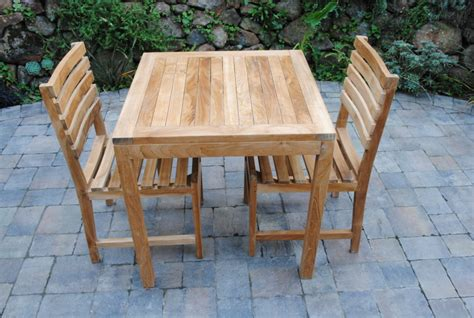 square bistro table paradise teak