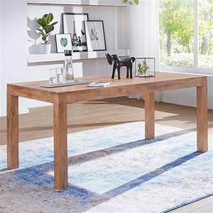 Ausergewohnlich Esstisch Akazie Nussbaum Gebleicht Tisch
