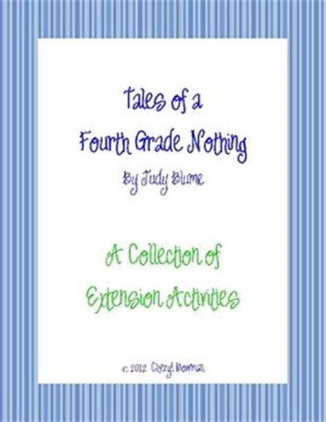 tales of a fourth grade nothing novel extension activities pinterest activities