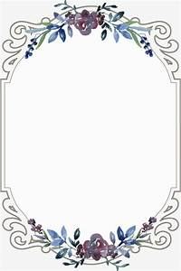 vintage floral border flowers frame continental png and With wedding invitation border design vector free download