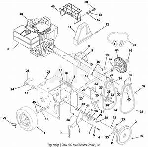 Ariens 932309  000101 -   St824  8hp Tec   24 U0026quot  Blower Parts Diagram For Engine And Belt Drive