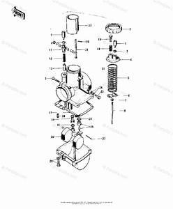 Kawasaki Motorcycle 1972 Oem Parts Diagram For Carburetor   U0026 39 72