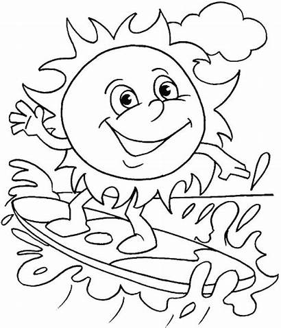 Coloring Summer Pages Printable