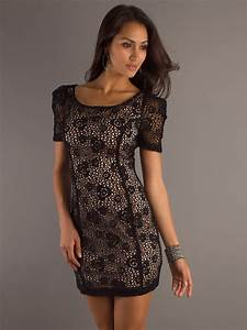 dramatic short sleeves scoop neckline and open back in With short sleeve dresses for wedding guests