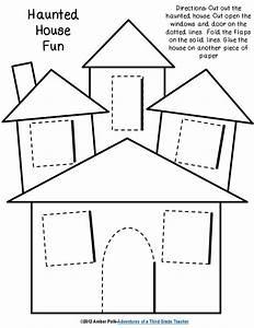 haunted house lift the flap template | Halloween PreK ...