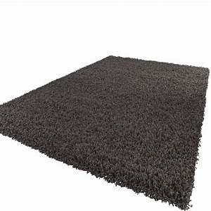 Hochflor Teppich Anthrazit : shaggy hochflor langflor teppich sky einfarbig in ~ Lateststills.com Haus und Dekorationen