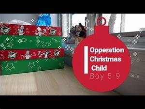 Operation Christmas Child Shoe Box Packing 2017 Boy 5 9