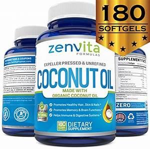 Buy Organic Coconut Oil Capsules 2000mg - 180 Softgels