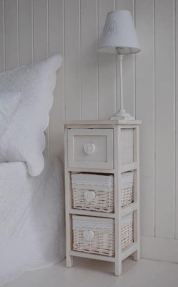 narrow bedside table  drawers cm bedroom furniture