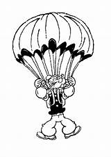 Parachute Popeye Coloring Pages Sailor Drawing 473f Flying Drawings Printable Clipart Clip Tv 76kb 1060px Clipartmag sketch template