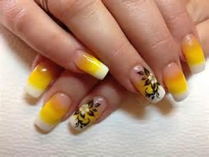 Yellow nail art arts