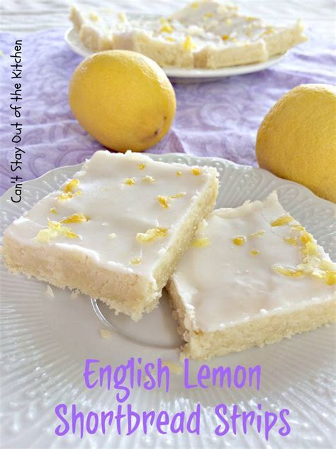 English Lemon Shortbread Strips   Can't Stay Out of the