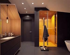 Salle De Bain Haut De Gamme : salle de bain noir et blanc ou en tons contrast s en 40 id es ~ Farleysfitness.com Idées de Décoration