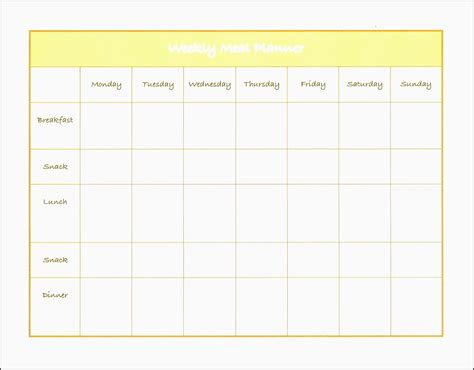 Meal Planner Template Word by 10 Weekly Planner Template In Word Sletemplatess