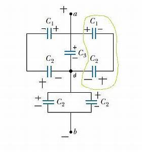 capacitance why is this charge distribution in correct With capacitors in series and series capacitor circuits