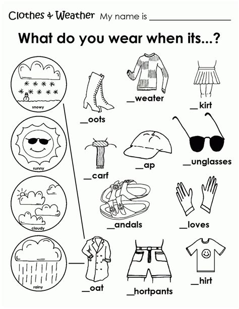 printable weather clothes worksheet memory care activities