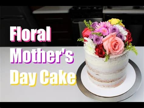 It is napolitan flavored cake (chocolate, vanilla, strawberry) with a very light raspberry mousse filling and icing. Easy Floral Mother's Day Cake | CHELSWEETS - YouTube