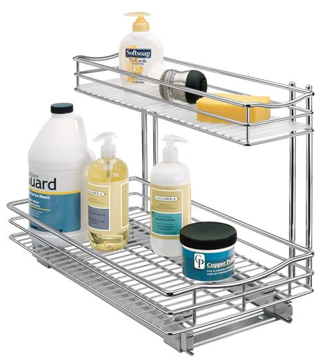 sink kitchen organizer pull out sink organizer chrome in pull out baskets 6564