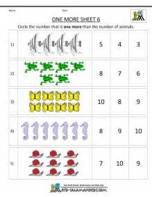 Math Worksheets Free Kindergarten Math Worksheets Printable One More