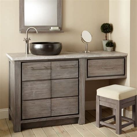Add style and functionality to your bathroom with a bathroom vanity. single sink make up table | ... design double vanity with ...