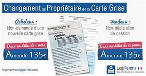 Carte Grise Non Faite Par Le Vendeur : changement de propri taire de la carte grise legipermis ~ Gottalentnigeria.com Avis de Voitures
