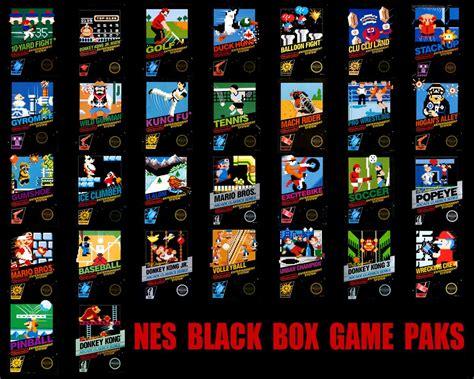 Nes Black Box Games Nes Black Box Game Retro Video