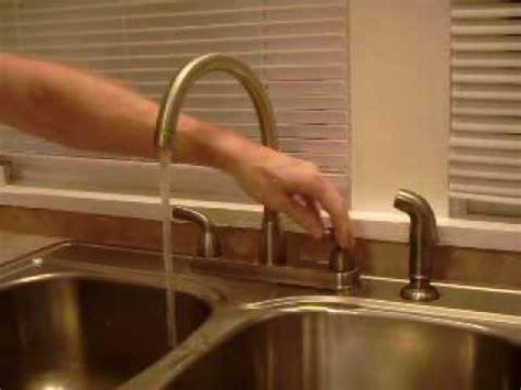 fix slow peerless kitchen faucet  handle youtube