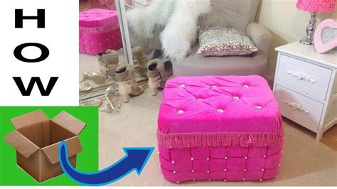 How To Make An Ottoman Out Of A Table by Never Waste Cardboard After It Real Furniture
