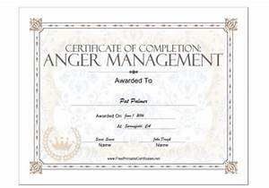 18 free certificate of completion templates utemplates With anger management certificate template