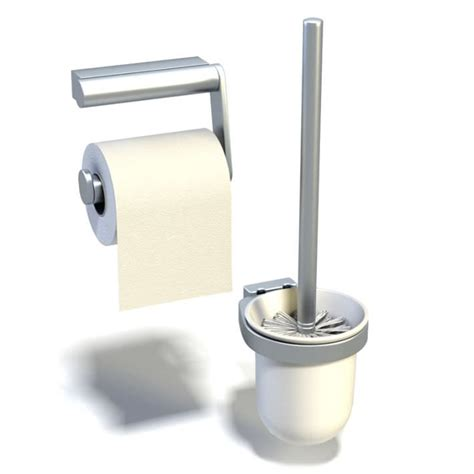 toilet paper 3d toilet paper and plunger set 3d model cgtrader