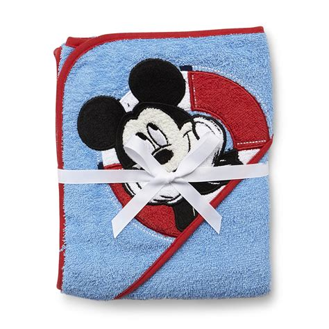 Mickey Mouse Bath Set Hooded Towels by Embroidered Machine Wash Bath Towel Kmart