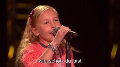 voice kids video karaoke wie schoen du bist sat