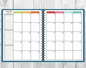 printable multi color 2018 monthly calendar two page spread With multiple month calendar template