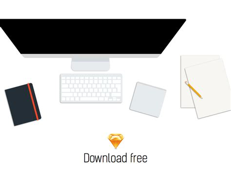 workplace desk sketch freebie free resource for