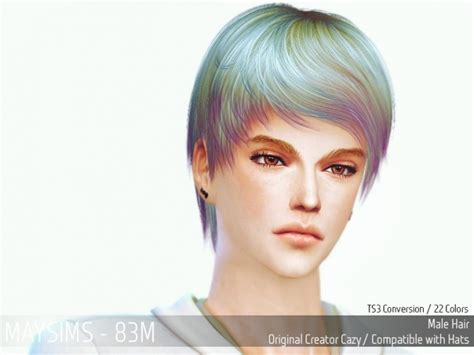 Update Hair Style 2019 : Hair 83m At May Sims » Sims 4 Updates