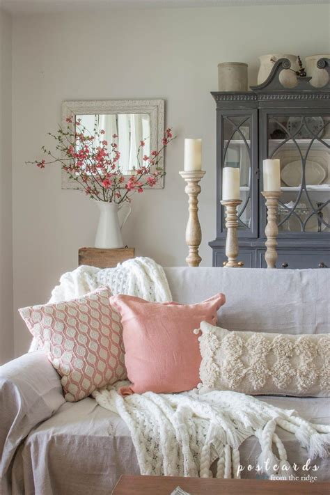 blush  bashful spring accents   living room