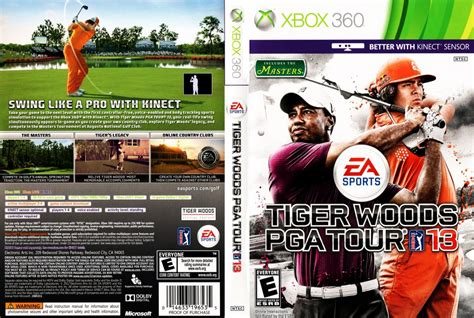 tiger woods pga   xbox  game covers tiger