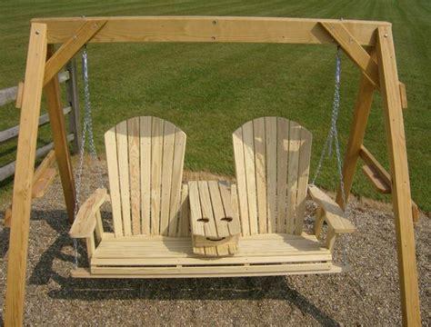 jakes amish furniture  adirondack swing  fold