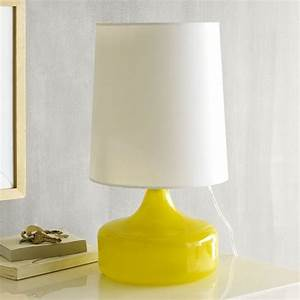 Perch table lamp yellow modern table lamps by west elm for Perch table lamp yellow